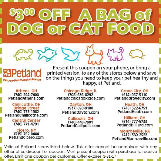 Petland discounts coupons